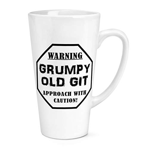 Warning Grumpy Old Git Caution 17oz Large Latte Mug Cup from Gift Base