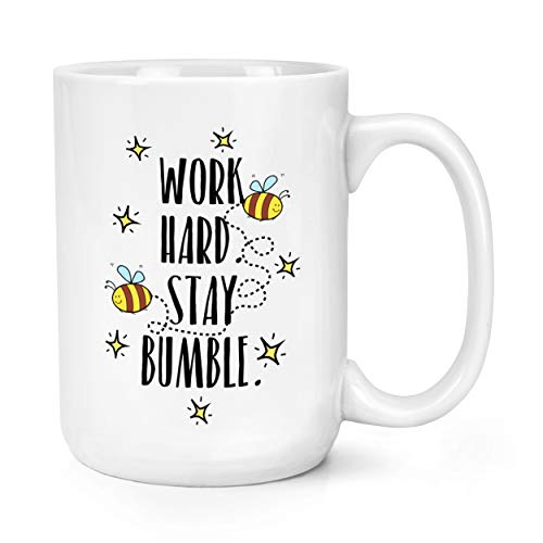 Work Hard Stay Bumble 15oz Large Mug Cup from Gift Base