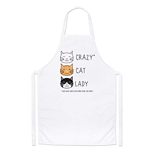 Crazy Cat Lady Chefs Apron from Gift Base
