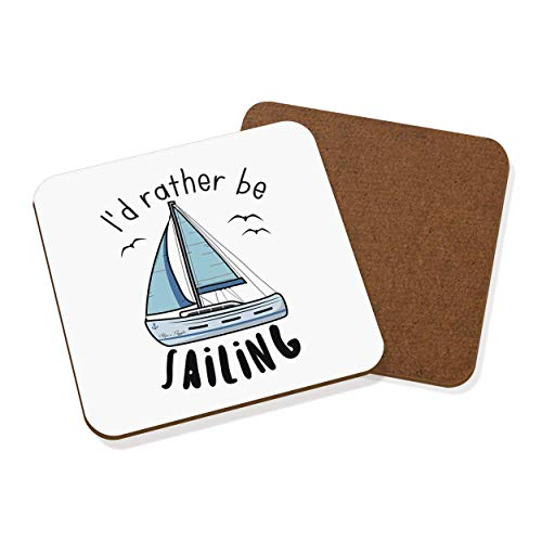 I'd Rather Be Sailing Coaster Drinks Mat from Gift Base