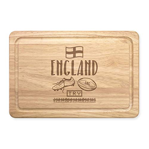 Rugby England Rectangular Wooden Chopping Board from Gift Base