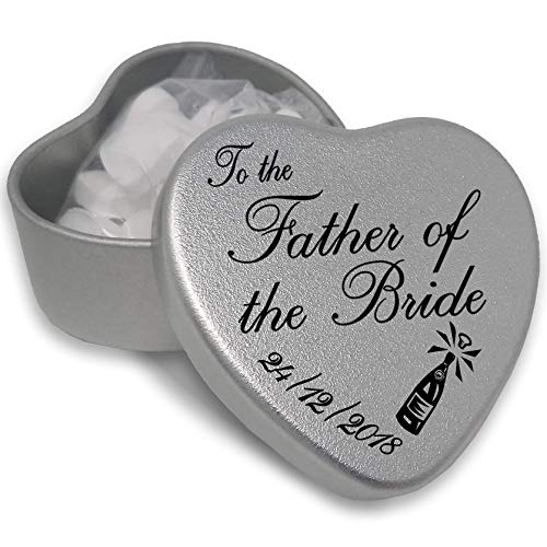 Luxury Personalised Wedding Gifts for Guests, Makes the perfect Keepsake and Momento for your Special Day with mints or chocolates. (Father of The Bride) from Gift In Can