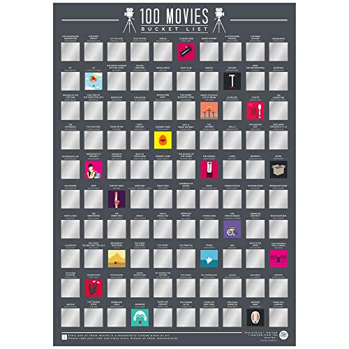 Gift Republic 100 Movies - Scratch Off Bucket List Poster from Gift Republic