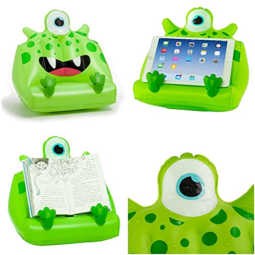 Kids Tablet and iPad Lap Holder, Inflatable Book Stand. Great Reading Rest for Bed, Travel or Study for Children from Gifts for Readers & Writers