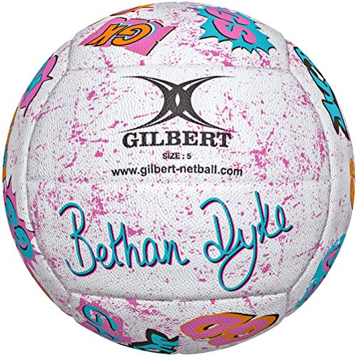 Gilbert Women's Bethan Dyke Signature Ball, Multicoloured, Size 5 from Gilbert