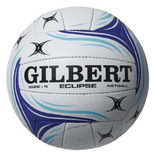 Gilbert Women's Eclipse Match Ball, White/Blue, Size 5 from Gilbert