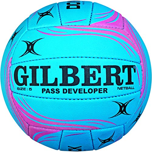 Gilbert Women's Pass Developer Ball, Blue/Pink, Size 5 from Gilbert
