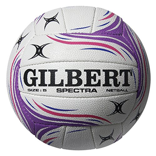 Gilbert Women's Spectra Match Net Ball, White/Purple/Pink, Size 4 from Gilbert