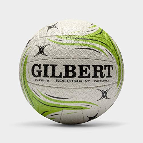 Gilbert Women's Spectra XT Match Net Ball, White/Green, Size 5 from Gilbert