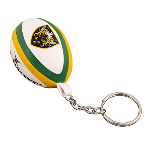 Northampton Saints Rugby Ball Keyring from Gilbert
