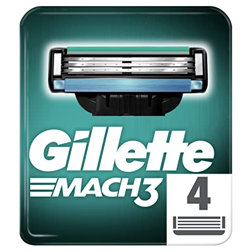 Gillette Mach3 Razor Blades for Men, Pack of 4 Refill Blades from Gillette