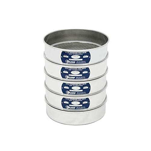 "Gilson Performer V8SFXPN Stainless Steel Sieve, Pan, 8"" Diameter, Full Height from GILSON"
