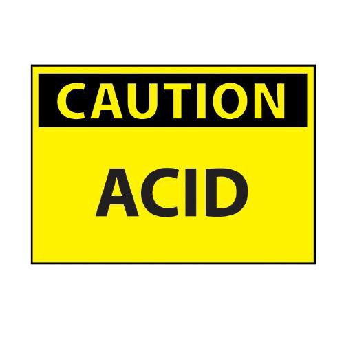 "Gilson C409AB Acid Caution Sign, Aluminum, 10"" x 14"" from Gilson"