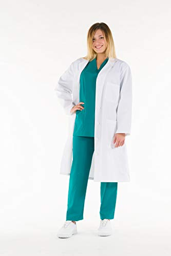 Gima - Women's White Lab Coat, Doctor's Work Wear, Made of 100% High Quality Cotton, EU Size 40, Professional and Stylish Line. from GIMA