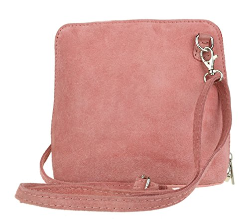 Girly HandBags Genuine Suede Cross Body Shoulder Bag (Coral) from Girly Handbags