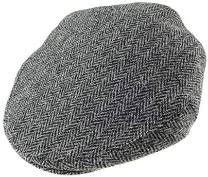 Glen Appin Authentic Harris Tweed County Cap Grey Herringbone (Large) from Glen  Appin 3e534710e381