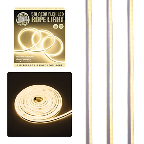 Global Gizmos 5 Metre LED Neon Flex Decorative Rope Light-Warm White from Global Gizmos