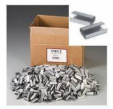 2000 Metal Seals for Hand Pallet Strapping 12mm x 25mm SEMI Open from GP Globe Packaging