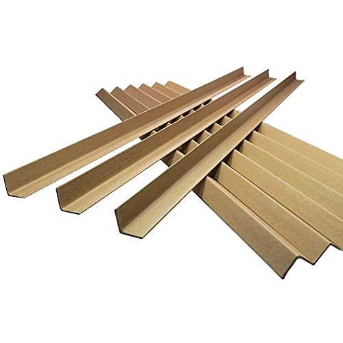 25 x 1.2M Long Cardboard EDGE Guard Pallet Protectors 50mm L Profile from Globe Packaging
