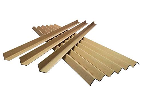 50 x 1M Long Cardboard EDGE Guard Pallet Protectors 35mm L Profile from GP Globe Packaging