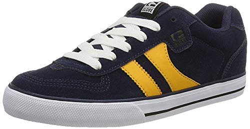 Globe Encore-2, Men's Skateboarding Shoes, Multicolored (Navy/Yellow), 7.5 UK (41 EU) from Globe