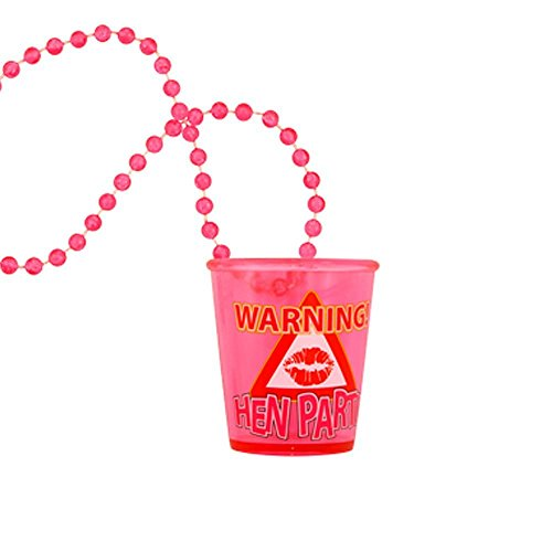 Warning Hen Party Shot Glass Necklace from Hen Party