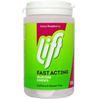 Lift fast acting glucose chews Raspberry 50 from Glucotabs