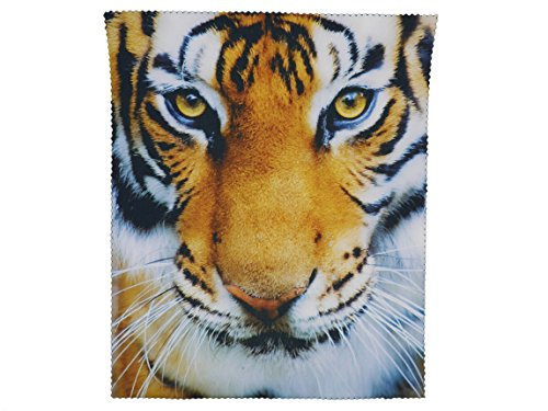 GoOpticians Glasses Cleaning Microfiber Cloth Tiger Spectacle lens Microfibre Cleaner 15cm x 18cm from Go Opticians