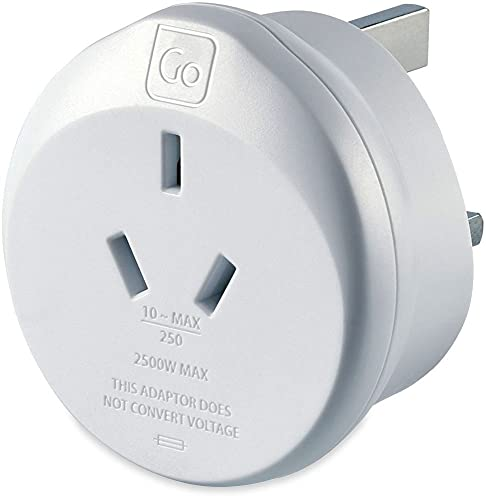 Go Travel Earthed AUS Australia and China to UK Travel Adaptor (Adapter Ref 560) from Go Travel