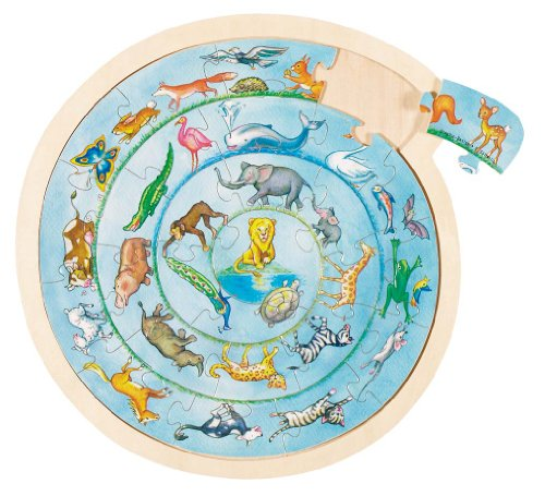 GoKi Wooden Animals Circle Puzzle from GoKi