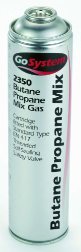 GoSystem Butane/Propane (70:30) Mix Gas Cartridge - Silver, 350 g from GoSystem