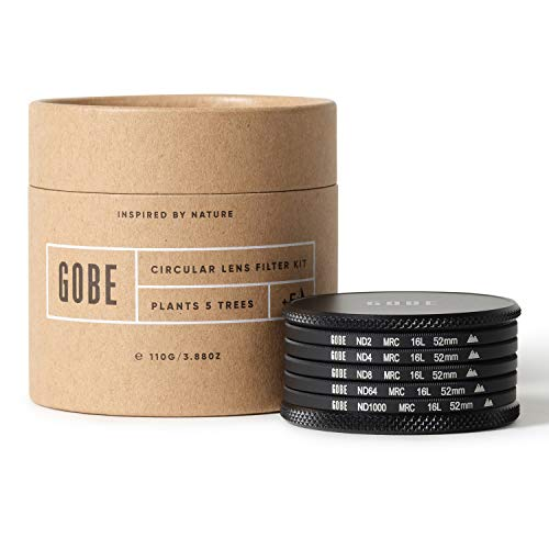 Gobe ND Filter Kit 52mm MRC 16-Layer: ND2, ND4, ND8, ND64, ND1000 from Gobe