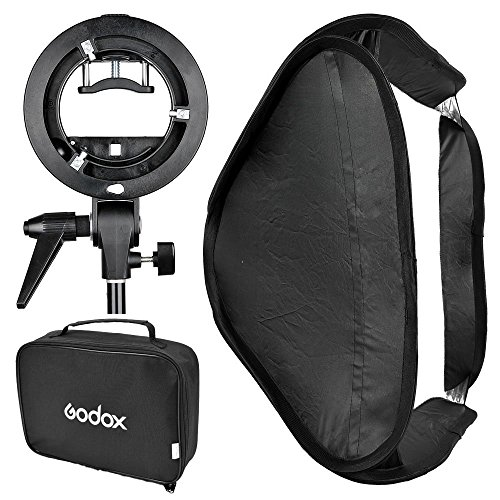 Godox 60x60 Foldable Universal Softbox with S Style Speedlite Bracket for Flash Bowens Mount Accessories Direction Adjustable from Godox