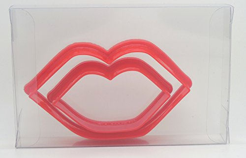 Kissing Lips Set of 2 Biscuit, Pastry, Cookie Cutter, Fondant Cutter Gift Boxed from Goggly