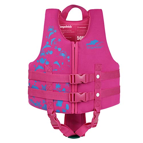Kids Swim Vest Folat Jacket - Baby Boys Girls Floation Swimsuit Buoyancy Swimwear for Children Swimming Learning, Rose L from Gogokids