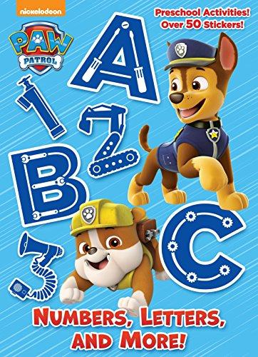 Numbers, Letters, and More! (Paw Patrol) (Full-Color Activity Book with Stickers) from Golden Books