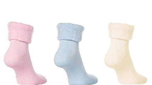 Pack of 3 Good Ideas Sleeperzzz Snuggle Soft Thermal Bed Socks (787) Keep your feet toasty warm ! from Good Ideas