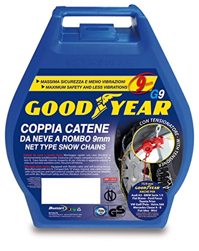 "Goodyear 77907 ""G9"", 9 mm car passenger snow chains, TUV and ONORM approved, Size 090 from Goodyear"