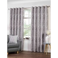 Camden Ready Made Lined Eyelet Curtains Silver from Gordon John Ready Made Curtains