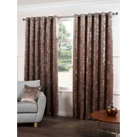 Plush Ready Made Lined Eyelet Curtains Champagne from Gordon John Ready Made Curtains