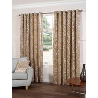 Plush Ready Made Lined Eyelet Curtains Silk from Gordon John Ready Made Curtains