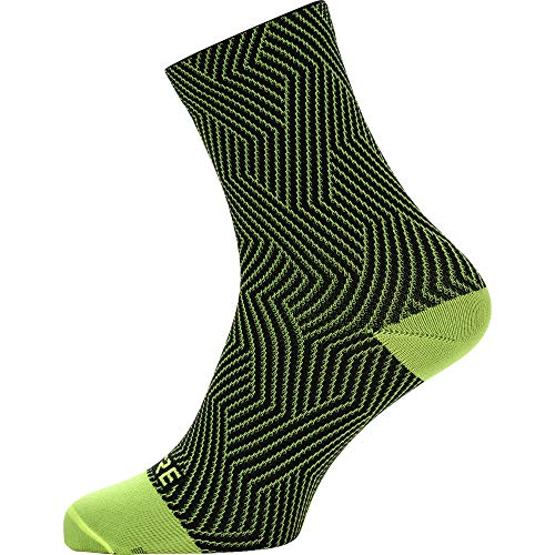 GORE WEAR C3 Unisex Cycling Socks, Neon Yellow/Black, 6-7.5 US from GORE WEAR