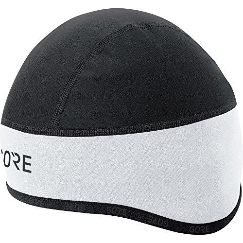 Men's Windproof Cycling Beanie, C3 WINDSTOPPER Helmet Cap, Size: 54-58, Colour: White/Black, 100398 from GORE WEAR