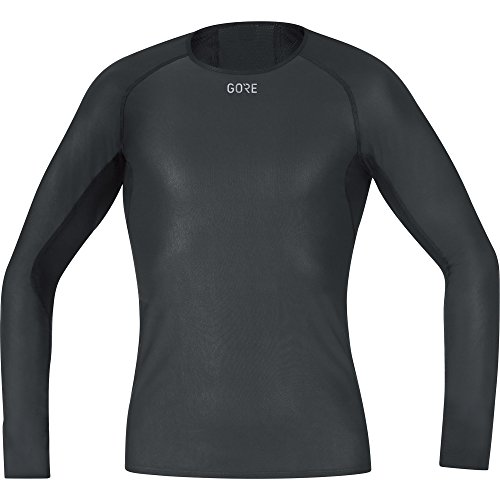 Gore Wear Men's Windstopper Base Layer Long Sleeve Shirt - Black, Medium from GORE WEAR