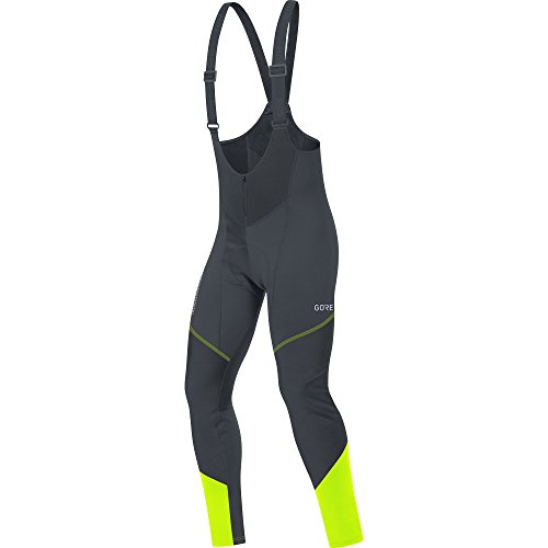 GORE Wear Windproof Men's Bicycle Bib Short, With Seat Insert, C3 GORE WINDSTOPPER Bib Tights+, M, Black/Neon Yellow, 100337 from GORE WEAR