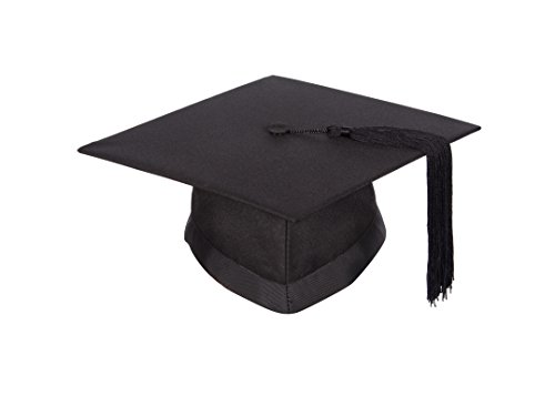 University academic mortarboard (Bachelor) - Graduation cap (Small - Circumference 50cm - 54cm) from Graduation Attire