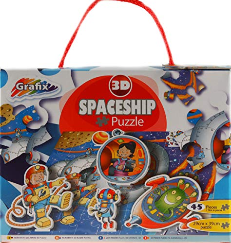 grafix 3d spaceship puzzle 45 piece 3+yrs from grafix