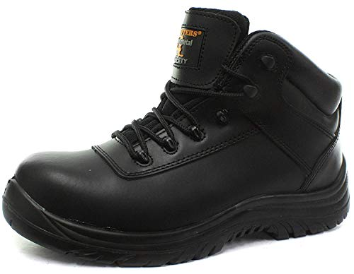 Non-Metal Composite Safety Hiker Type Boot - Black - Black - size M10½ from Grafters
