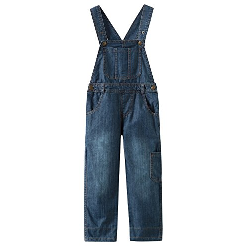 Grandwish Kids Blue Dungarees Boys Denim Bib Overalls 10 Years from Grandwish