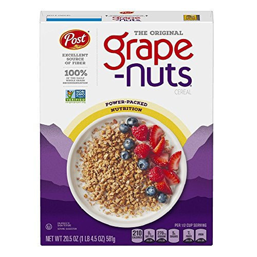 Grape-Nuts Crunchy Wheat & Malted Barley 580g - Pack of 2 from Grapenuts